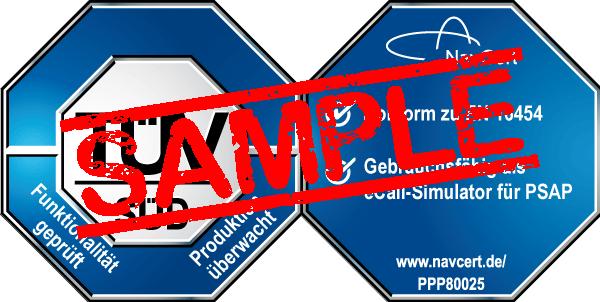 navcert pruefzeichen ppp80025 psap